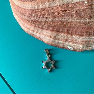 Silver and crystal star pendant